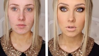 GOLD GLITTER + BRONZE Makeup Tutorial!