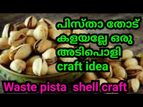അടിപൊളി craft from from waste material/pista shells cd/valentine craft , home decor
