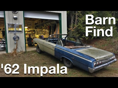 Barn Find 1962 Impala Convertible SS Project Update and First Start!