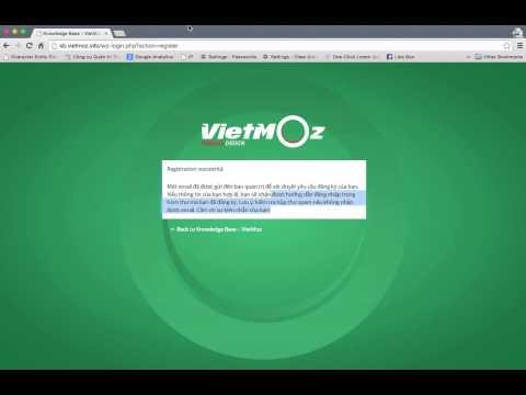 Hướng Dẫn Sử Dụng Trang Web KB.VietMoz.info