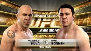UFC CLÁSSICOS/SIMULAÇÃO- WANDERLEI SILVA VS CHAEL SONNEN