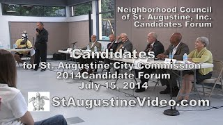 Neighborhood Council of St.  Augustine Candidates Forum