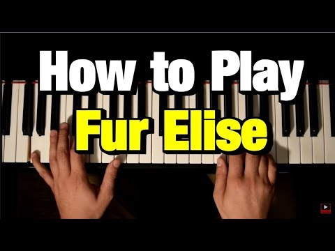 BEETHOVEN - Für Elise - EASY PIANO TUTORIAL