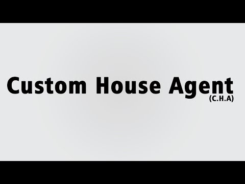 Export Custom house agent  procedure part - 1