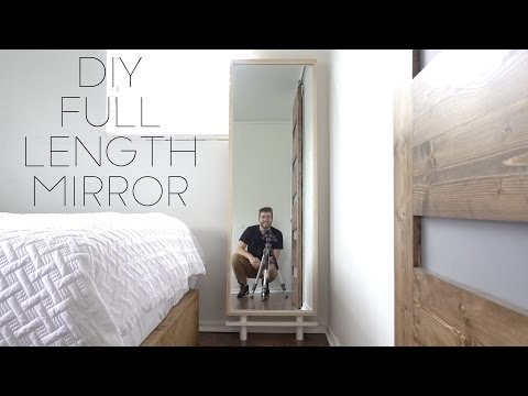 Diy Full Length Mirror Modern Builds Ep 59 How To Youtube