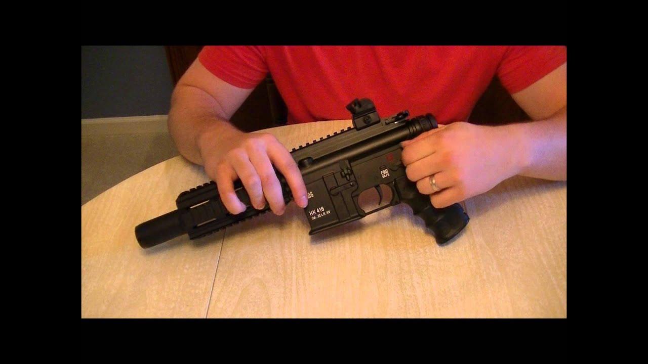 Heckler & Koch Umarex HK 416  22LR Pistol field strip