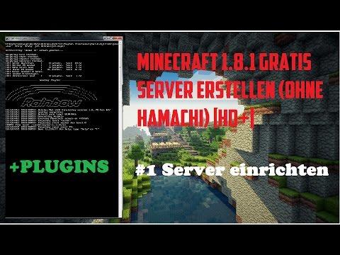 Minecraft Server Mit Plugins GRATIS ErstellenOhne Hamachi - Minecraft bukkit server 1 8 erstellen ohne hamachi