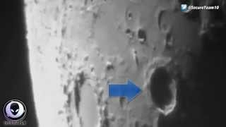 SHARE NOW!! LEAKED GOV VIDEO OF ALIEN SHIP LEAVING MOON & CLOAKING ITSELF 2015