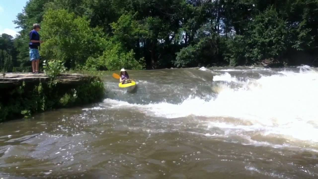 Kayaking fall river kansas youtube for Kansas fishing regulations