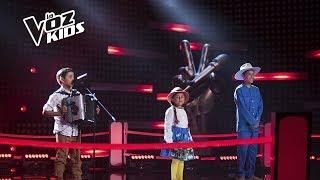 La Carranguerita, Mario y Juanjo cantaron en la Súper Batalla de Cepeda| La Voz Kids Colombia 2018
