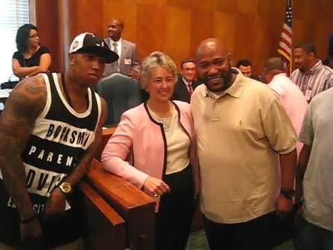 Bun B accepts proclamation from City of Houston August 30, 2011
