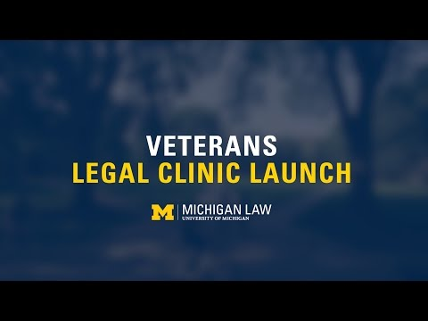 Veterans Legal Clinic Launch