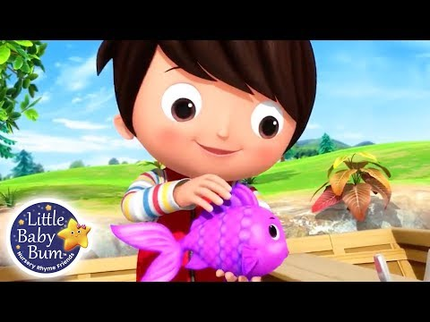 12345 Once I Caught A Fish A  Nursery Rhymes for Babies  Songs For Kids  Little Ba Bum