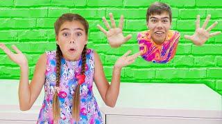 Nastya and Artem - Jump through the wall Mia