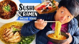 ULTIMATE Japanese RAMEN & SUSHI Tour of DALLAS TEXAS