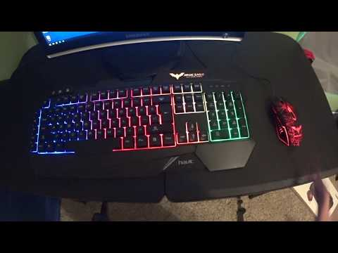 Havit  HV-KB558CM LED Keyboard And Mouse Unboxing And Review