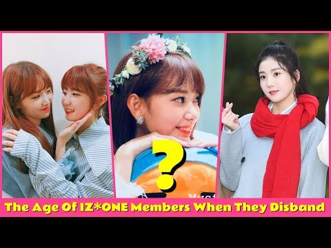The Age Of IZ*ONE Members When They Disband - YouTube