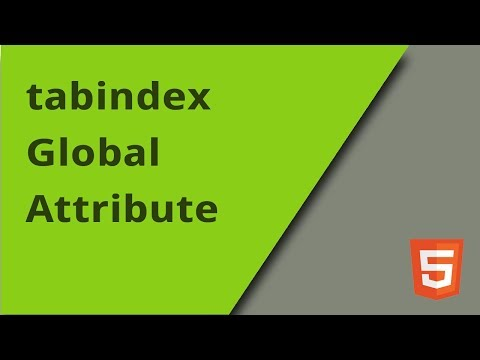 The Tabindex Attribute In HTML