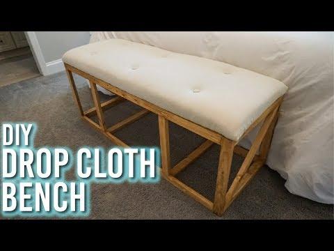 DIY Drop Cloth Bench!