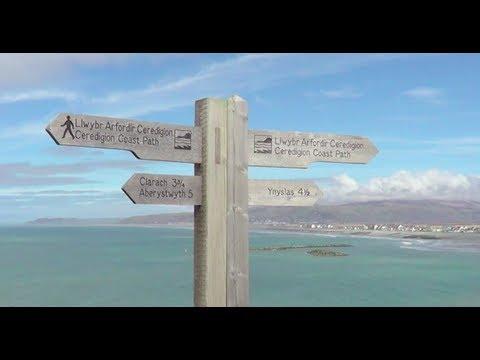 Borth to Aberystwyth coastal walk