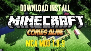 MINECRAFT COMES ALIVE MOD 1.8.9 minecraft - how to download and install MCA 1.8.9 (with forge)