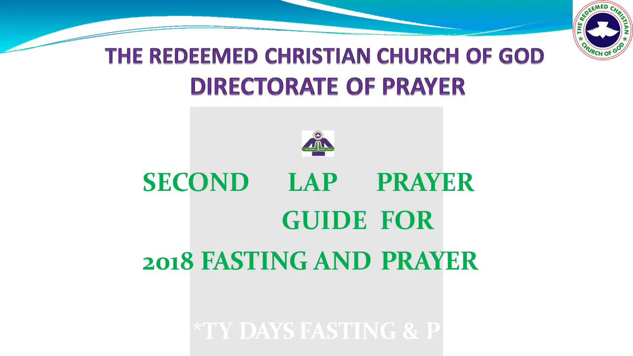 RCCG Fasting & Prayer Points for 2018 (Second Lap) - No Audio