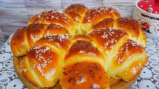 Пирог с фаршем и сыром ВКУСНЫЙ и ПЫШНЫЙ дрожжевой пирог Красивая домашняя выпечка