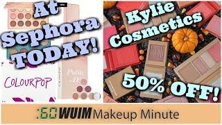 Colour Pop Sephora Launch TODAY! + Kyle Cosmetics 50% Off Sale! 1 Hour ONLY! | Makeup Minute