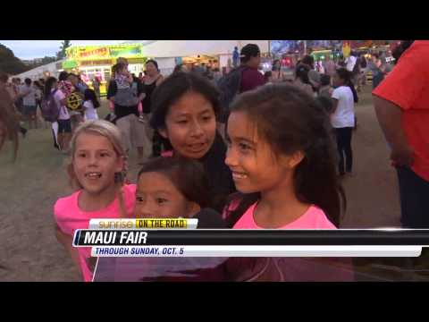 Maui County Fair - Girls celebrating birthday