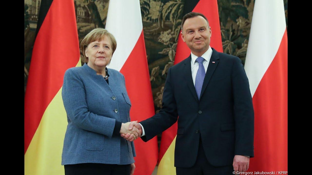 Spotkanie Prezydenta RP Andrzeja Dudy z Kanclerz RFN Angelą Merkel