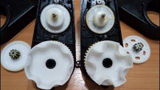 Усиленные редукторы RS390  для детских электромобилей в разобранном виде.