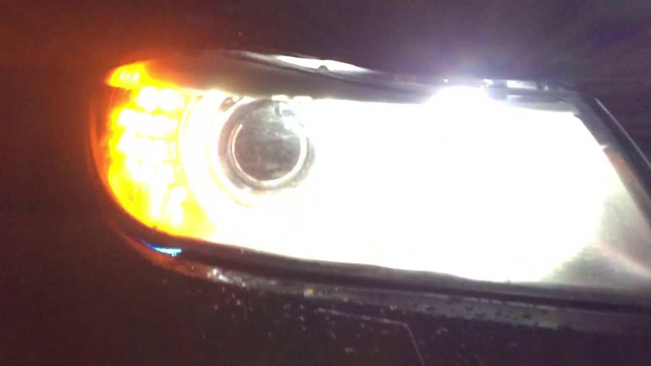BMW E91 2009 LCI welcome lights and follow-me home lights - YouTube