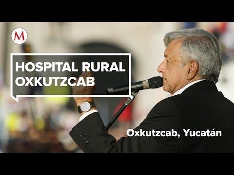 AMLO visita el Hospital rural Oxkutzcab, en Yucatán