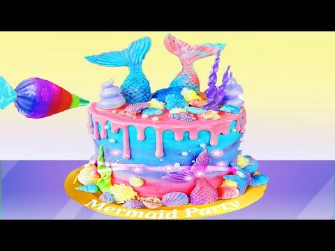 Permainan Anak Perempuan Game Masak Masakan Membuat Kue Ulang Tahun Mermaid Youtube