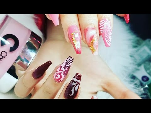 How To Do Dipping Ombré and Marble l Nails Artist David Hoang l Step By Step Tutorial