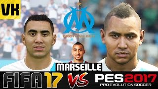 FIFA 17 VS PES 2017 VS REAL LIFE MARSEILLE PLAYER FACES COMPARISON (Payet, Evra etc)