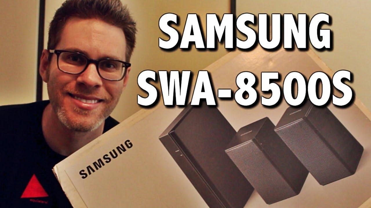Samsung Swa 8500s Wireless Rear Speakers Unboxing Review Youtube Soundbar Hw M550 Xd