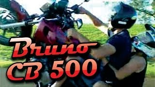 Bruno Converseiro CB 500 no grau - Jardim Alegre