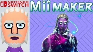 "Mii Maker How To Create ""Galaxy Skin"" From Fortnite"