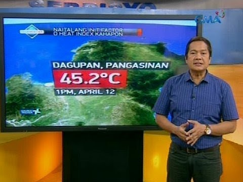 Weather update as of 6:06 a.m. (April 13, 2018)