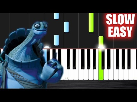 Kung Fu Panda - Oogway Ascends - SLOW EASY Piano Tutorial by PlutaX