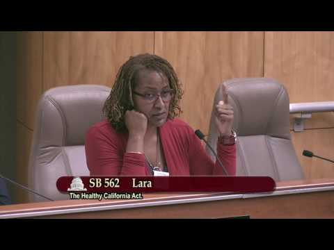 Sen. Mitchell Comments on SB 562: The Healthy California Act
