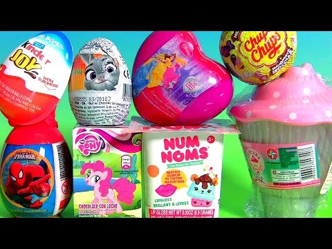 Toys Surprise Kinder Disney Princess Cupcake Surprise Estrela Chupa Chups My Little Pony NUM NOMS
