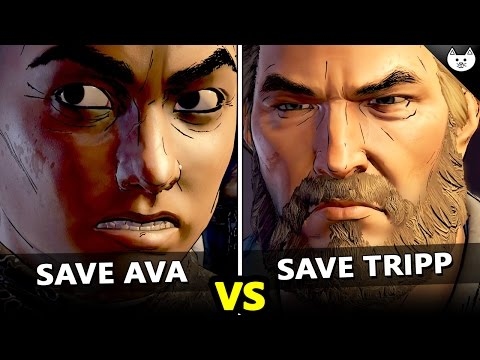 Save Ava VS Save Tripp - The Walking Dead Game Season 3 Episode 4 Choices Difference Check