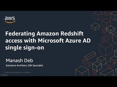 Federating Amazon Redshift Access with Microsoft Azure AD