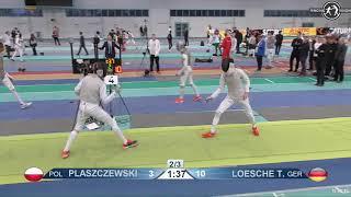 2018 1234 T64 08 M F Individual Halle GER European Cadet Circuit YELLOW LOESCHE GER vs PLASZCZEWSKI