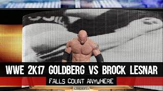 WWE 2K17 GAMEPLAY | Goldberg Vs Lesnar