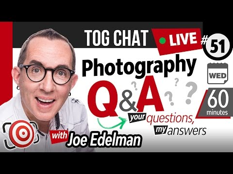 🔴 LIVE TogChat™ #51 - Why most photography workshops suck!  60 mins of photography questions - LIVE