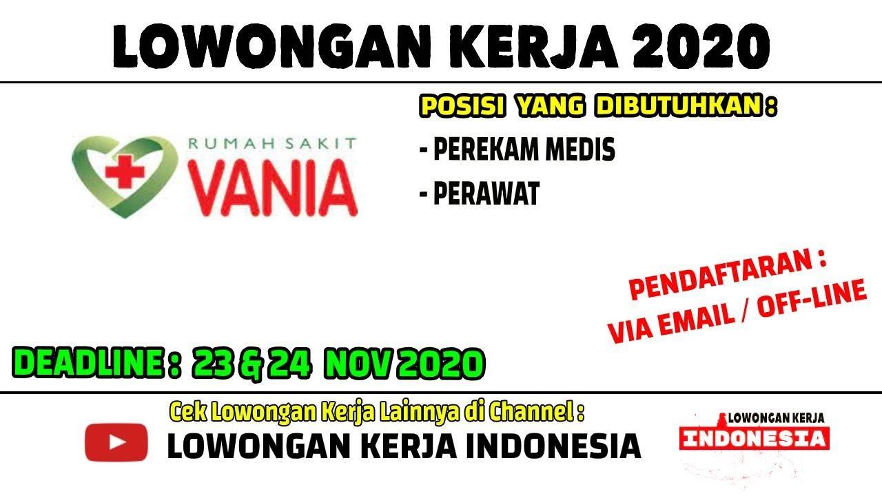 Lowongan Kerja Perawat 2020 Rs Vania Bogor Lowongan Kerja Rumah Sakit Loker Bogor 2020 Terbaru Youtube