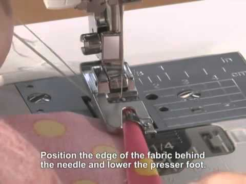 Brother Domestic Sewing Machine Narrow Hemmer Rolled Hem Foot Gorgeous How To Use A Hemming Foot On A Sewing Machine